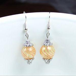 Jewelry - ☀️Sunny Swirls Glass Blown Earrings☀️